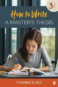 Cover How to Write a Master's Thesis