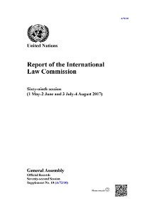 Cover Report of the International Law Commission
