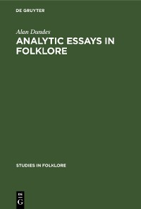 Cover Analytic Essays in Folklore