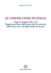 Cover Le unioni civili in Italia