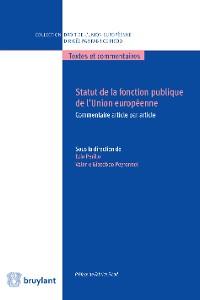 Cover Statut de la fonction publique de l'Union européenne