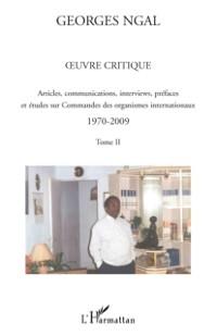 Cover Oeuvre critique - articles, communications, interviews, pref