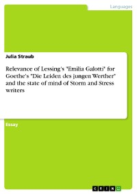 "Cover Relevance of Lessing's ""Emilia Galotti"" for Goethe's ""Die Leiden des jungen Werther"" and the state of mind of Storm and Stress writers"