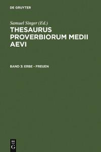 Cover Erbe - freuen