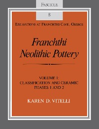 Cover Franchthi Neolithic Pottery, Volume 1