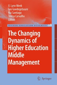 Cover The Changing Dynamics of Higher Education Middle Management