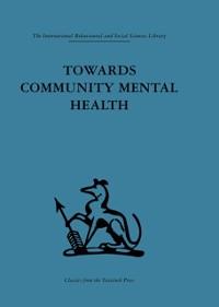 Cover Towards Community Mental Health