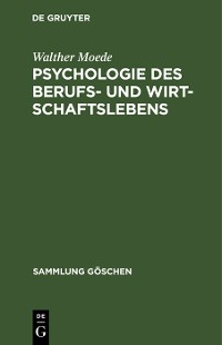 Cover Psychologie des Berufs- und Wirtschaftslebens