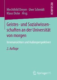 Cover Geistes- und Sozialwissenschaften an der Universität von morgen