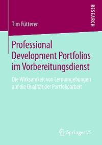 Cover Professional Development Portfolios im Vorbereitungsdienst