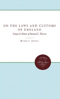 Cover On the Laws and Customs of England