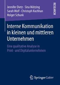 Cover Interne Kommunikation in kleinen und mittleren Unternehmen