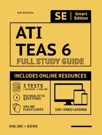 Cover ATI TEAS 6 Full Study Guide 3rd Edition 2020-2021