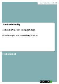 Cover Subsidiarität als Sozialprinzip