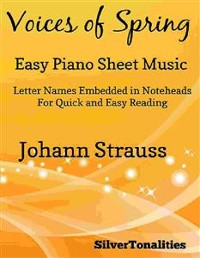 Cover Voices of Spring Opus 410 Easy Piano Sheet Music