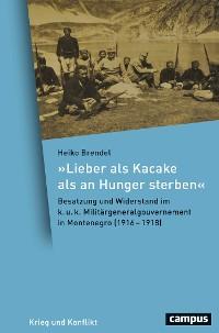 Cover Lieber als Kacake als an Hunger sterben
