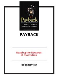 Cover Payback: Reaping the Rewards of Innovation