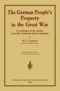 Cover German people's Property in the great war