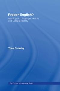 Cover Proper English