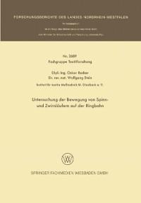 Cover Untersuchung der Bewegung von Spinn- und Zwirnlaufern auf der Ringbahn