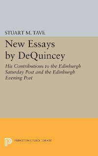 Cover New Essays by De Quincey