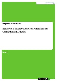 Cover Renewable Energy Resource Potentials and Constraints in Nigeria