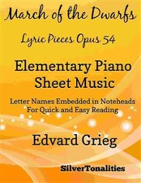 Cover March of the Dwarfs Lyric Pieces Opus 54 Elementary Piano Sheet Music