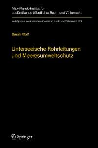 Cover Unterseeische Rohrleitungen und Meeresumweltschutz