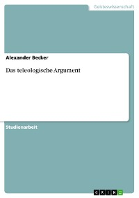 Cover Das teleologische Argument