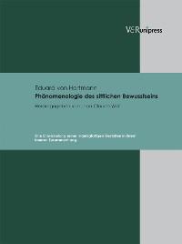 Cover Phänomenologie des sittlichen Bewusstseins