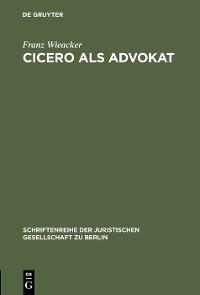 Cover Cicero als Advokat