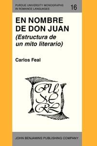 Cover En Nombre de Don Juan