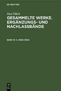 Cover II. (1920–1924)