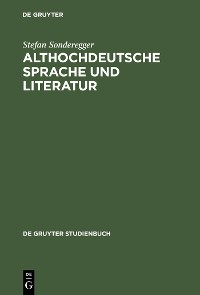 Cover Althochdeutsche Sprache und Literatur
