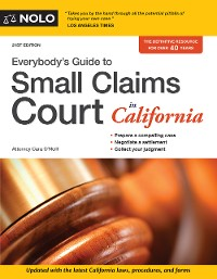 Cover Everybody's Guide to Small Claims Court in California