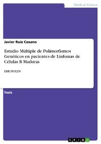 Cover Estudio Múltiple de Polimorfismos Genéticos en pacientes de Linfomas de Células B Maduras