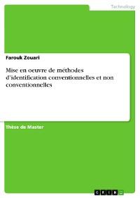 Cover Mise en oeuvre de méthodes d'identification conventionnelles et non conventionnelles