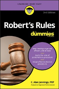 Cover Robert's Rules For Dummies