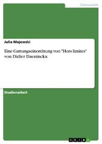 """Cover Eine Gattungseinordnung von """"Hors limites"""" von Didier Daeninckx"""