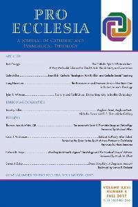 Cover Pro Ecclesia Vol 26-N4