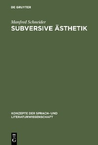 Cover Subversive Ästhetik