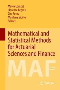 Cover Mathematical and Statistical Methods for Actuarial Sciences and Finance