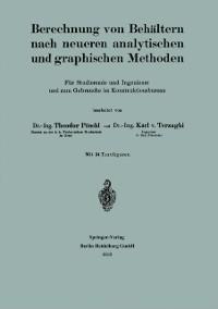 Cover Berechnung von Behaltern nach neueren analytischen und graphischen Methoden