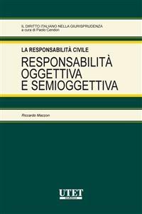 Cover Responsabilità oggettiva e semioggettiva