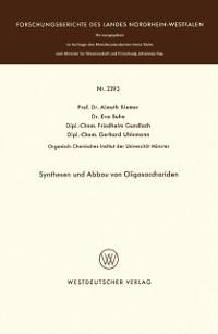 Cover Synthesen und Abbau von Oligosacchariden
