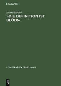 Cover »Die Definition ist blöd!«