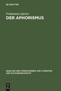 Cover Der Aphorismus