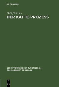 Cover Der Katte-Prozeß