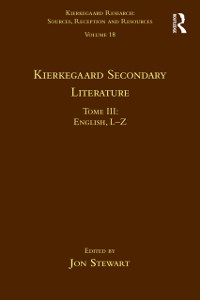 Cover Volume 18, Tome III: Kierkegaard Secondary Literature