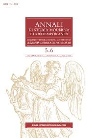 Cover Annali di Storia Moderna e Contemporanea 2017-2018/5